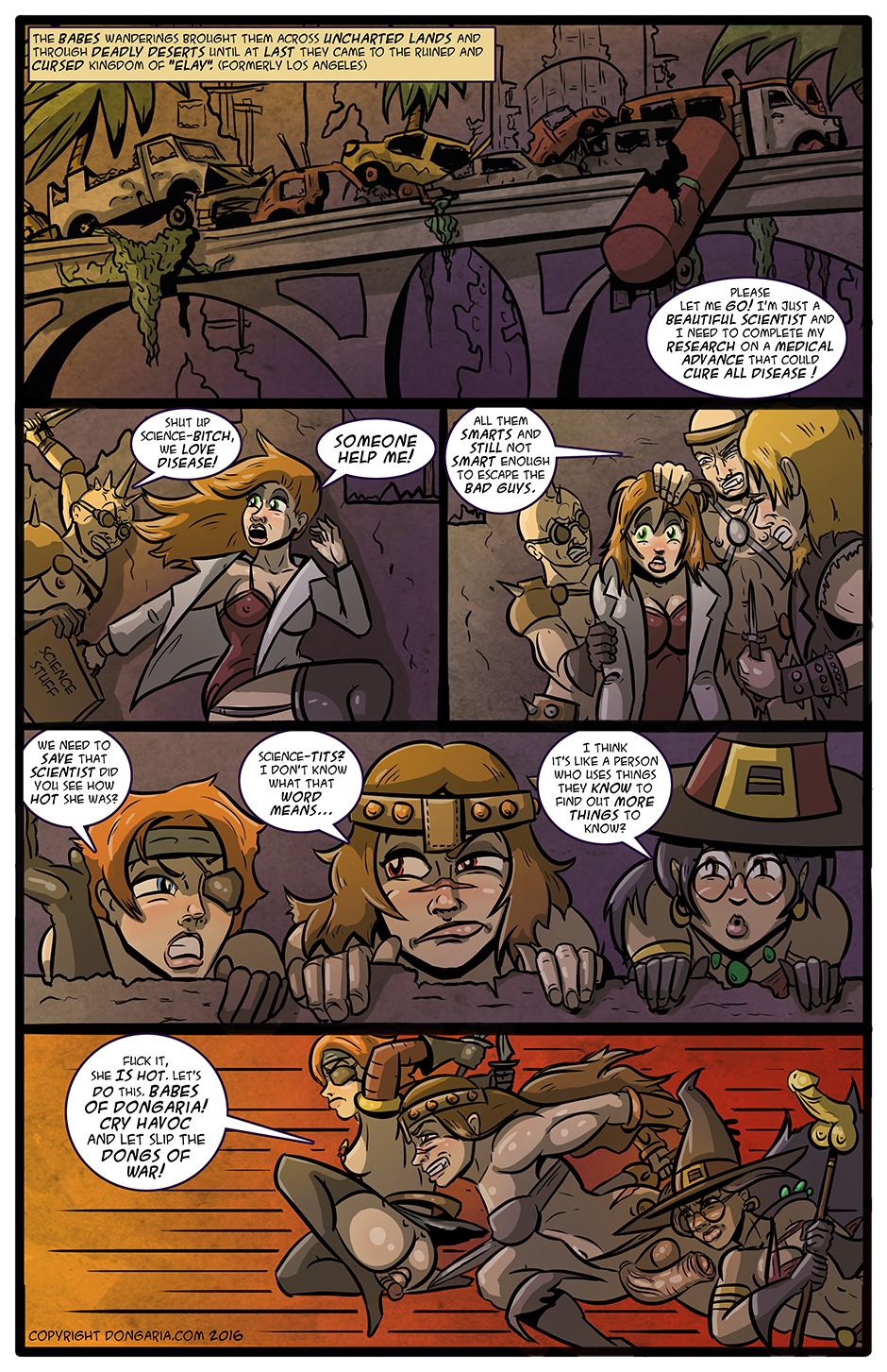Babes of Dongaria Chapter 3 Page 2: Cry Havoc