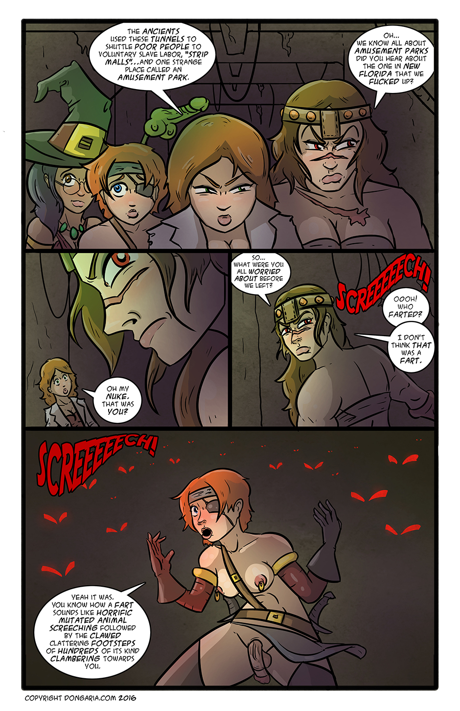 Babes of Dongaria Chapter 3 Page 10: Gettin' Up In The Tunnel