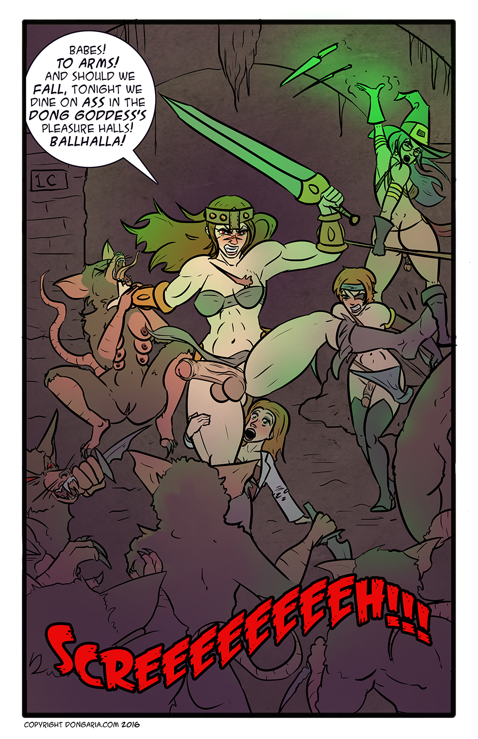 Babes of Dongaria Chapter 3 Page 12: Ballhalla Awaits!