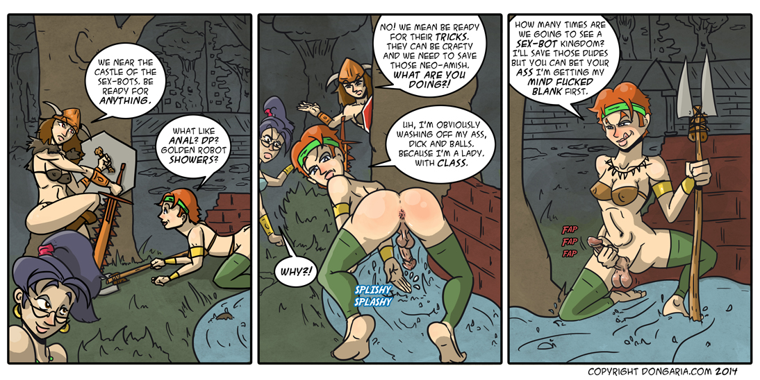 Babes of Dongaria Page 10: A Good Wash Up Before Battle