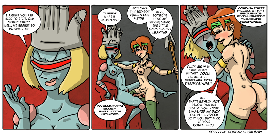Babes of Dongaria Page 15: Audience With The Sex-Bot Queen