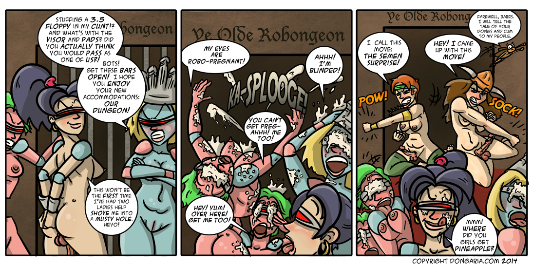 Babes of Dongaria Page 29: A Sticky Surprise!